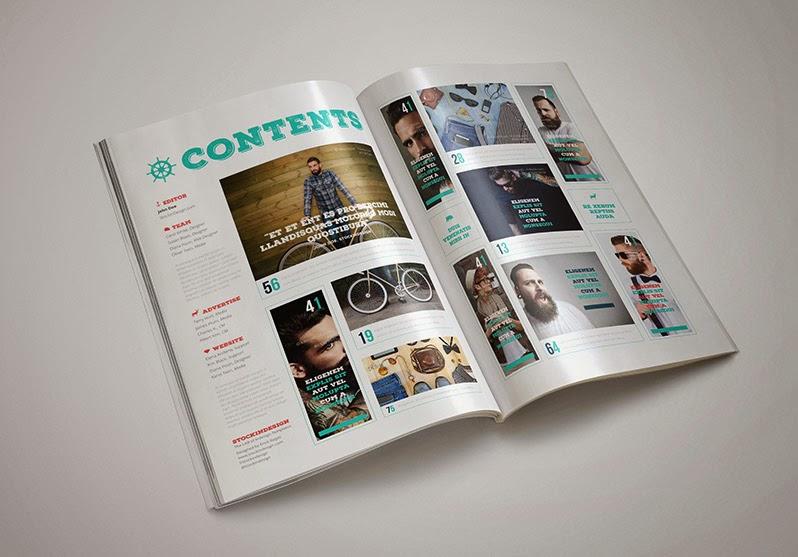 Cybertronic: Plantilla Photoshop Indesign Revista - Diseño Corel
