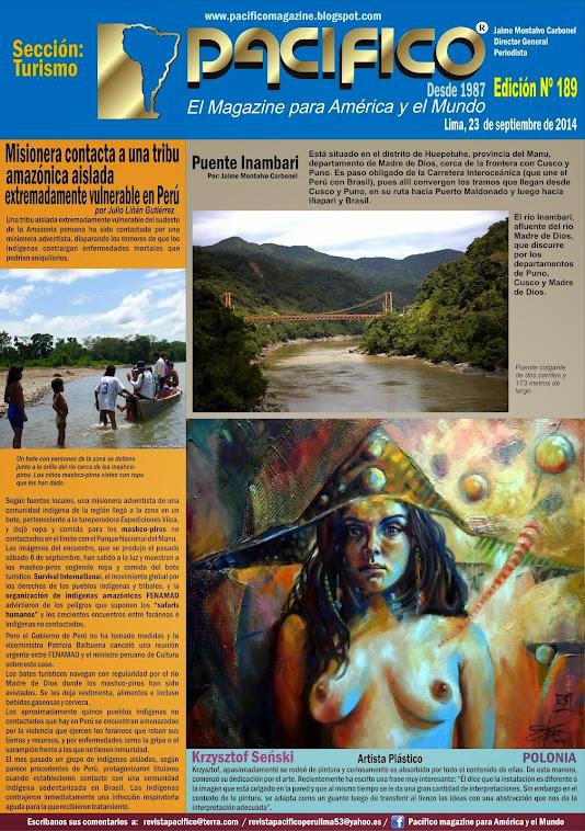 Revista Pacífico Nº 189 Turismo