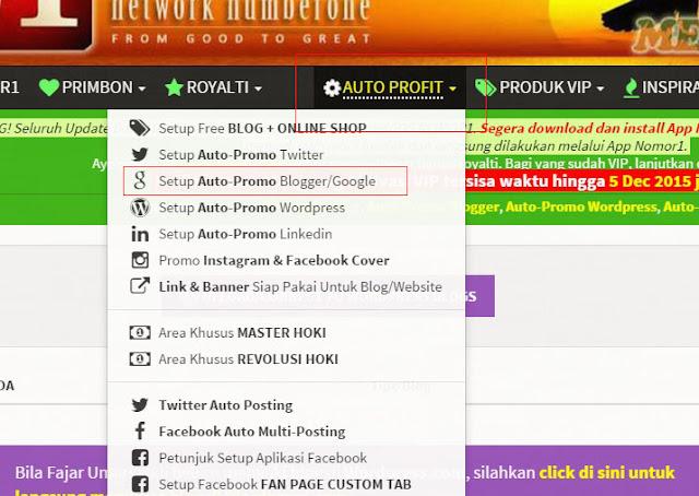 Menonaktifkan auto post blogger dari nomor1.com