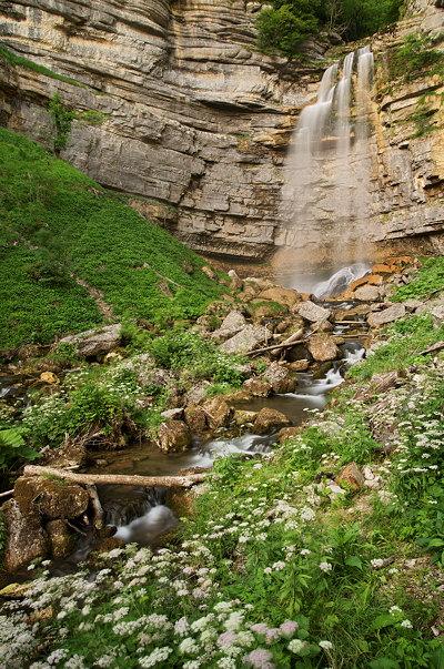 Grand Saut waterfall on river Hérisson