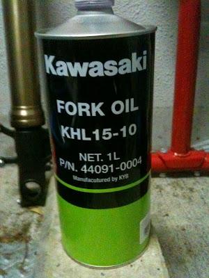 Kawasaki フォークオイル KHL15-10