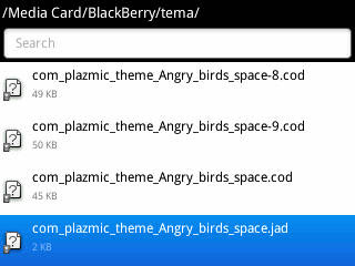 Langkah 2 Cara Install Tema BlackBerry Langsung Melalui BB