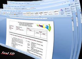 Download Contoh Soal SD Kelas 6 Lengkap Semua Mata Pelajaran