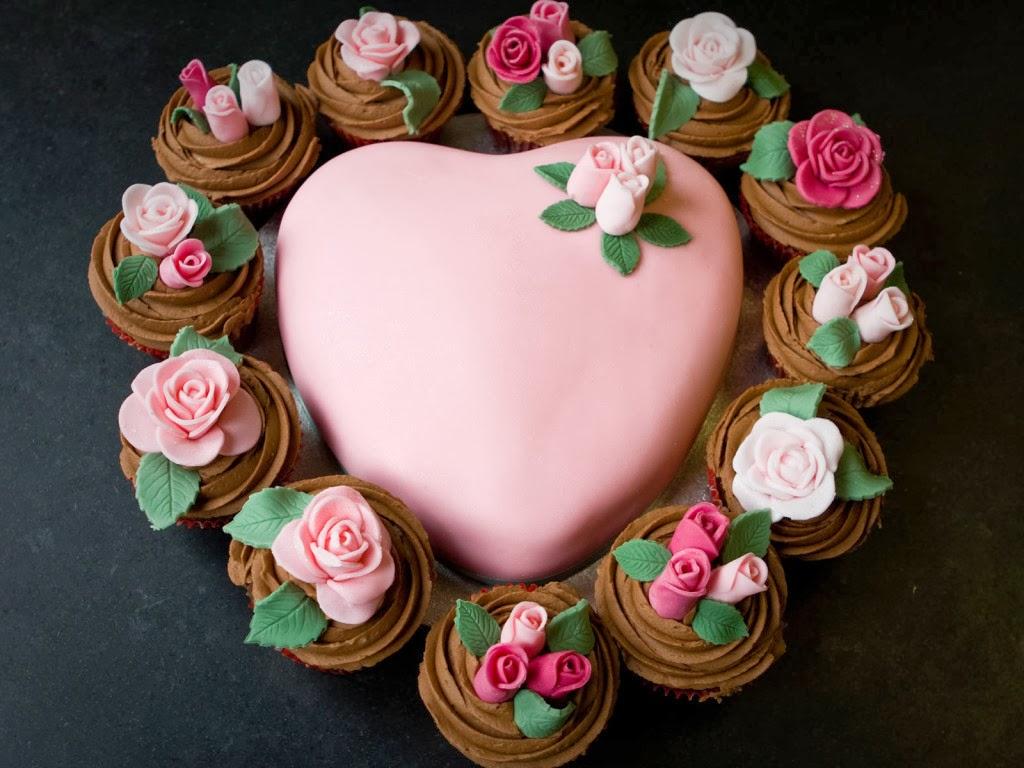 Beautiful Valentine's Day Cake