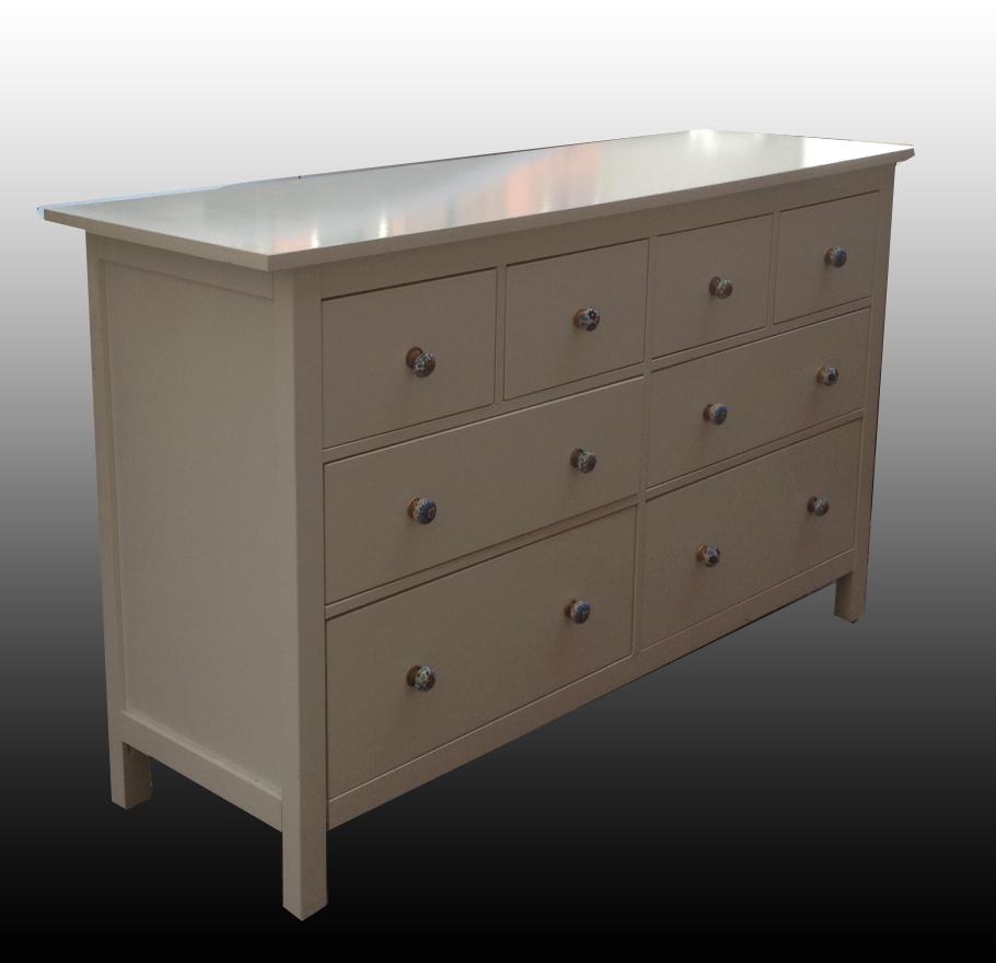 Uhuru furniture collectibles 8 drawer white shaker style dresser sold for White shaker bedroom furniture