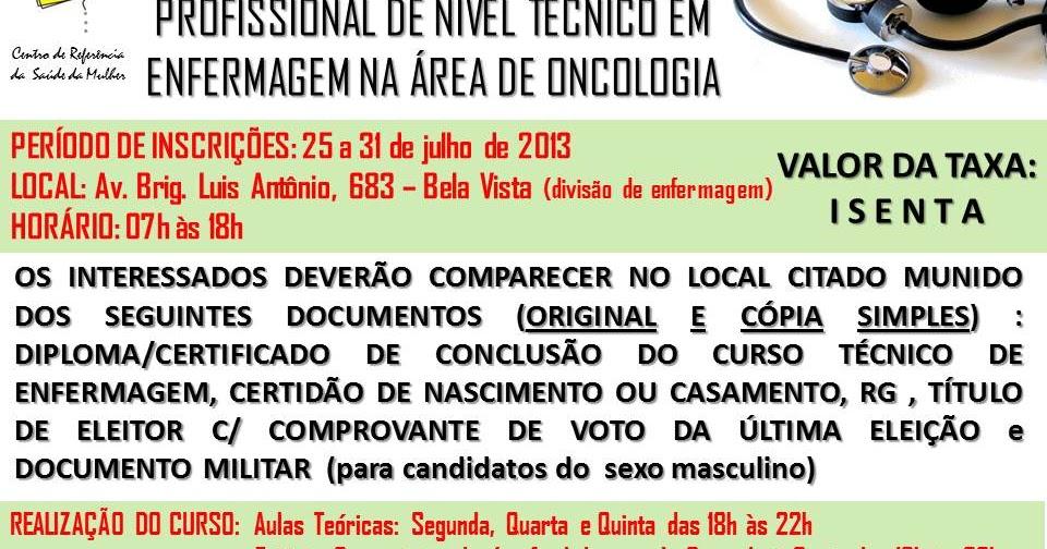 Curso de especializacao para tecnico de enfermagem rj