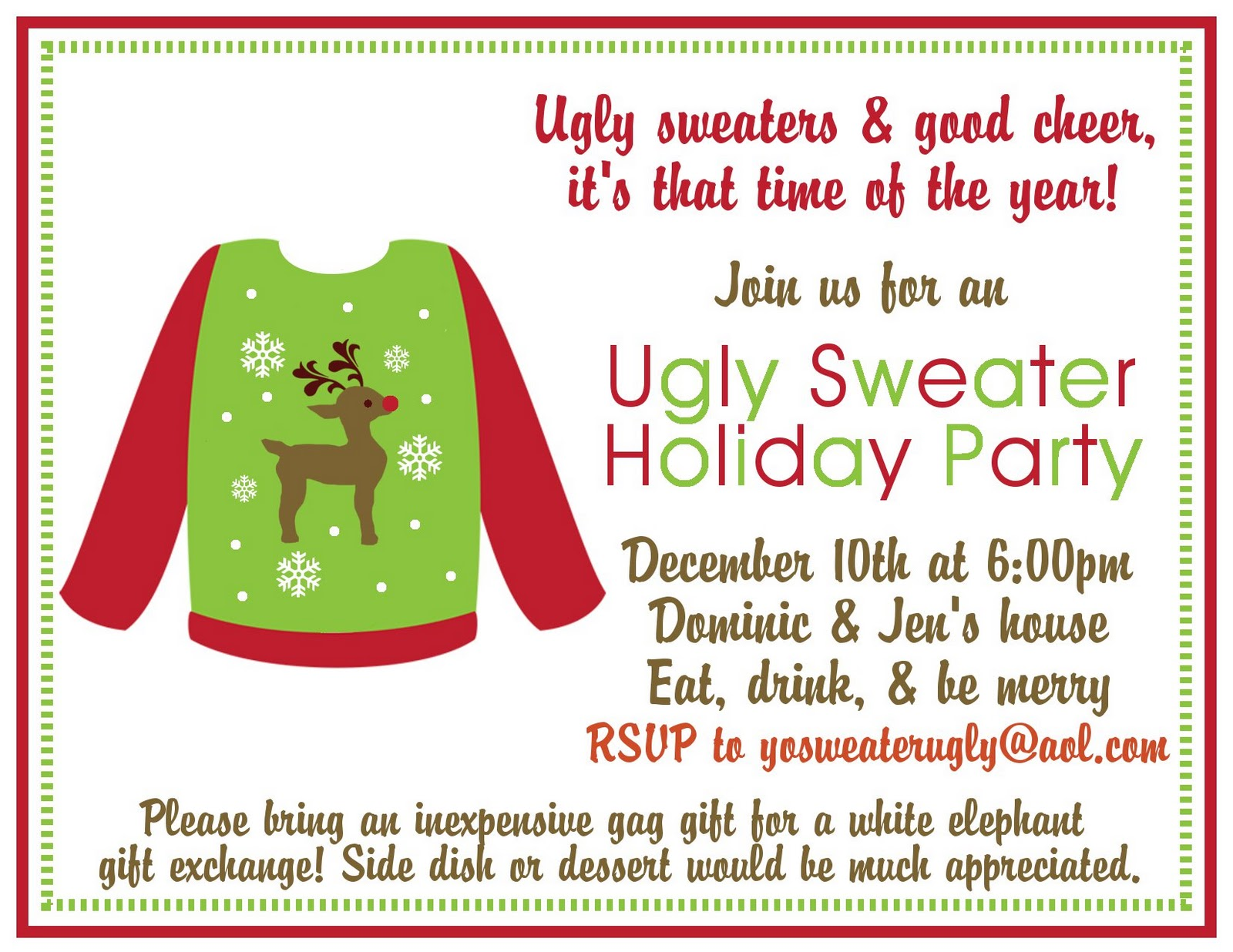 Ugly Sweater Party {Holiday Party Ideas} | Delightfully Noted