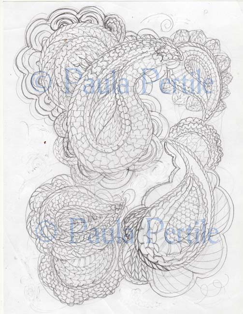 Knitting Drawing Software : Drawing a fine line drawings of knitting coloring book
