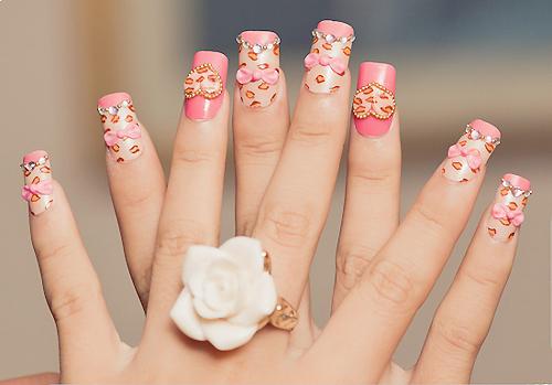 nail art nail Decoração Leopard