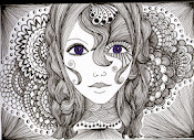 Girl Zentangle