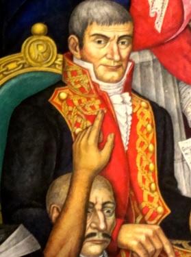 Félix María Calleja sentado en su trono