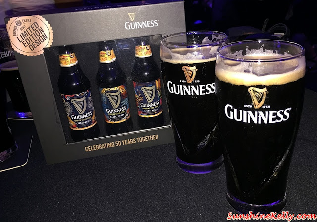 Guinness Malaysia, 50 Years Anniversary, 50 Years Together, 50 Years Limited Edition Designs, Guinness three limited edition designs, Guinness Foreign Extra Stout