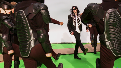 Michael Jackson's – This is it - Michael rehearsing 'They don't care about us'against green screen.