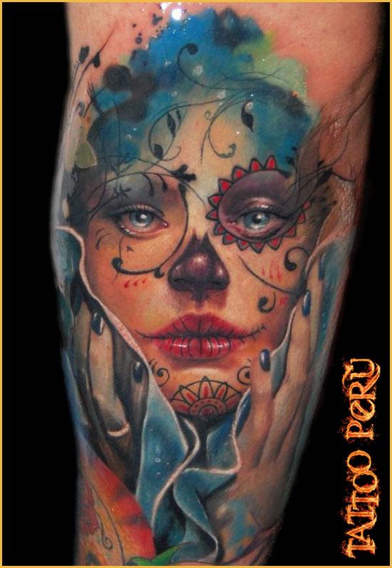 ¿En que parte del Cuerpo se puede Tatuar?. 01_rostro_new_school