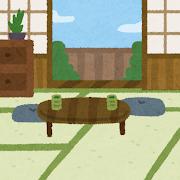 和室のイラスト(室内風景)