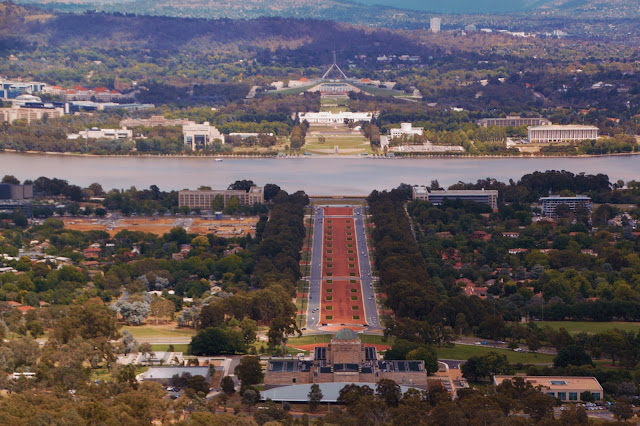Australian War Memorial and old and new Parliament Houses