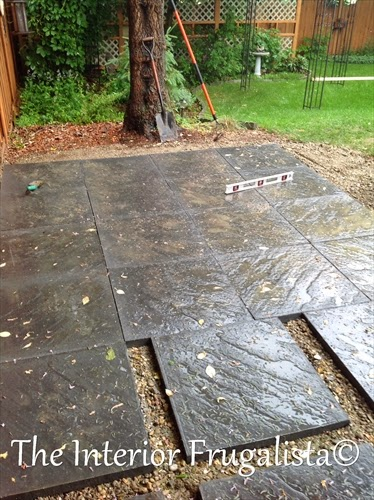 Blocks laid for the gazebo area of our outdoor living space expansion