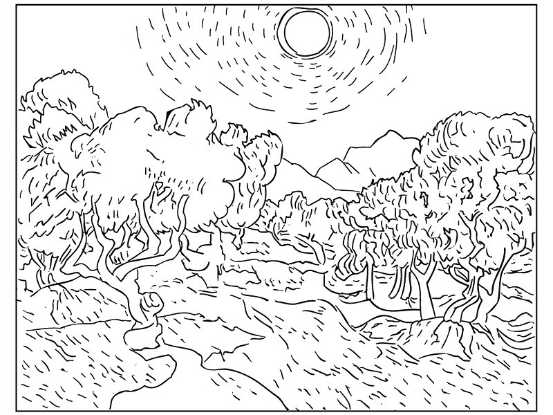 printable coloring pages of masterpieces - photo#17