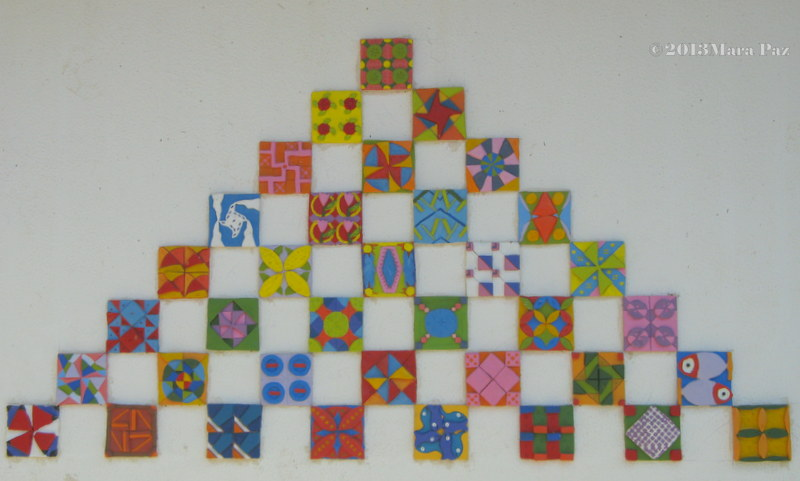 students' ceramic tiles