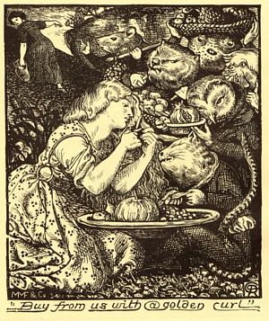 the spiritual and sensual temptations in goblin market a poem by christina rossetti Goblin market (composed in april 1859 and published in 1862) is a narrative poem by christina rossetti the poem tells the story of laura and lizzie who are tempted with fruit by goblin merchants [1.