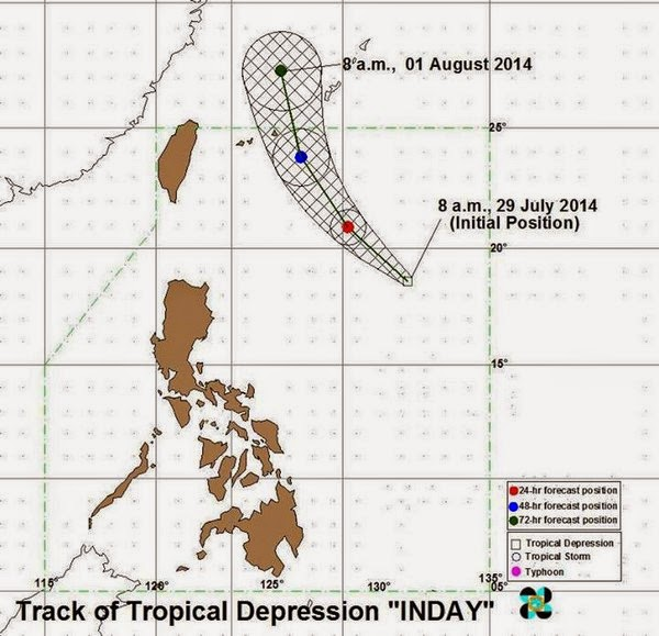 Tropical Depression Inday July 29, 2014