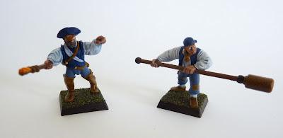 Helblaster volley gun crew