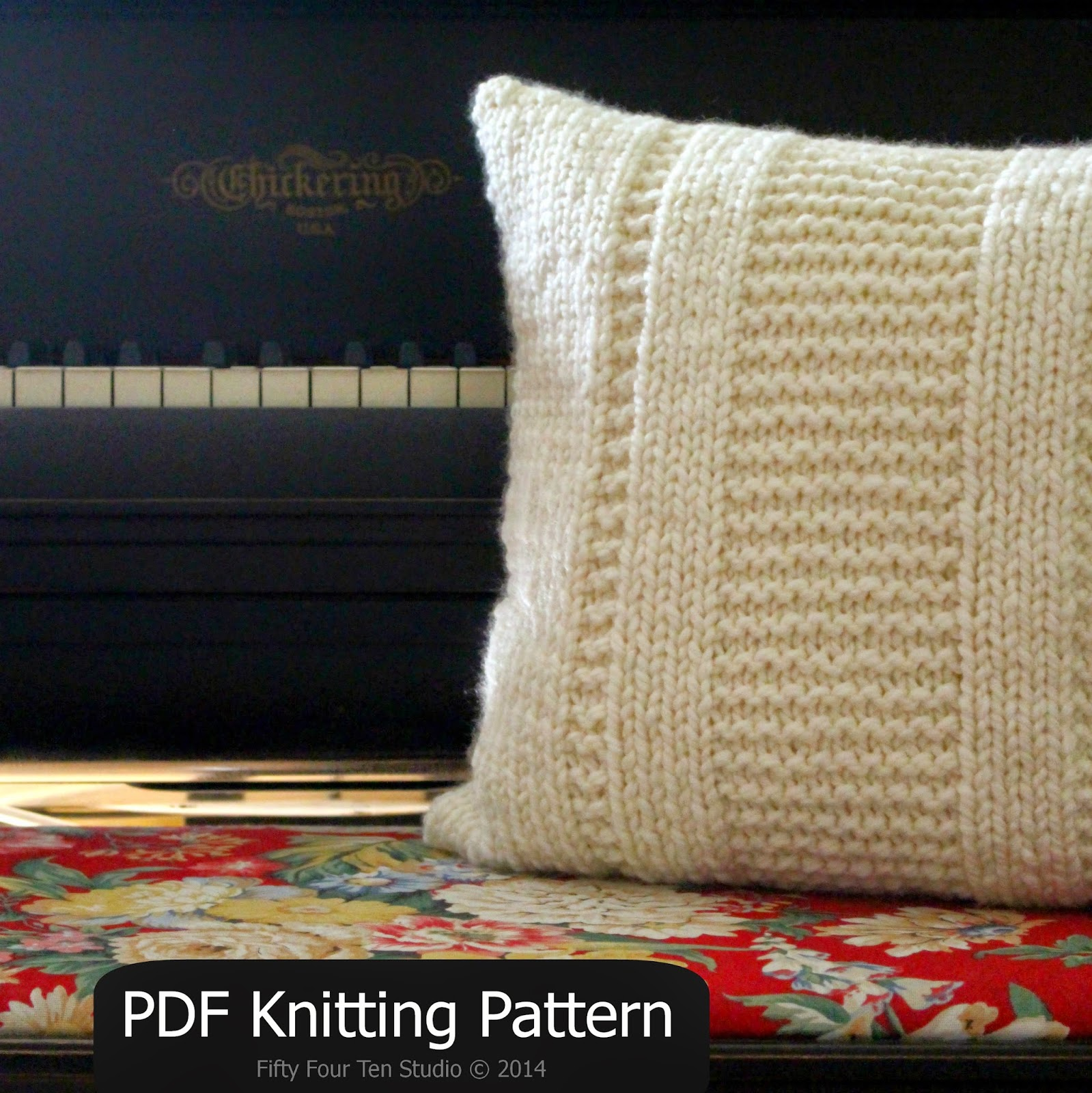 Fifty Four Ten Studio: The Parkway Pillow Knitting Pattern – New!