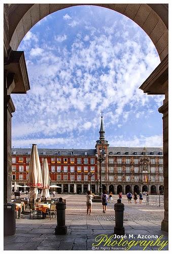 Plaza Mayor desde el arco de la calle de Toledo