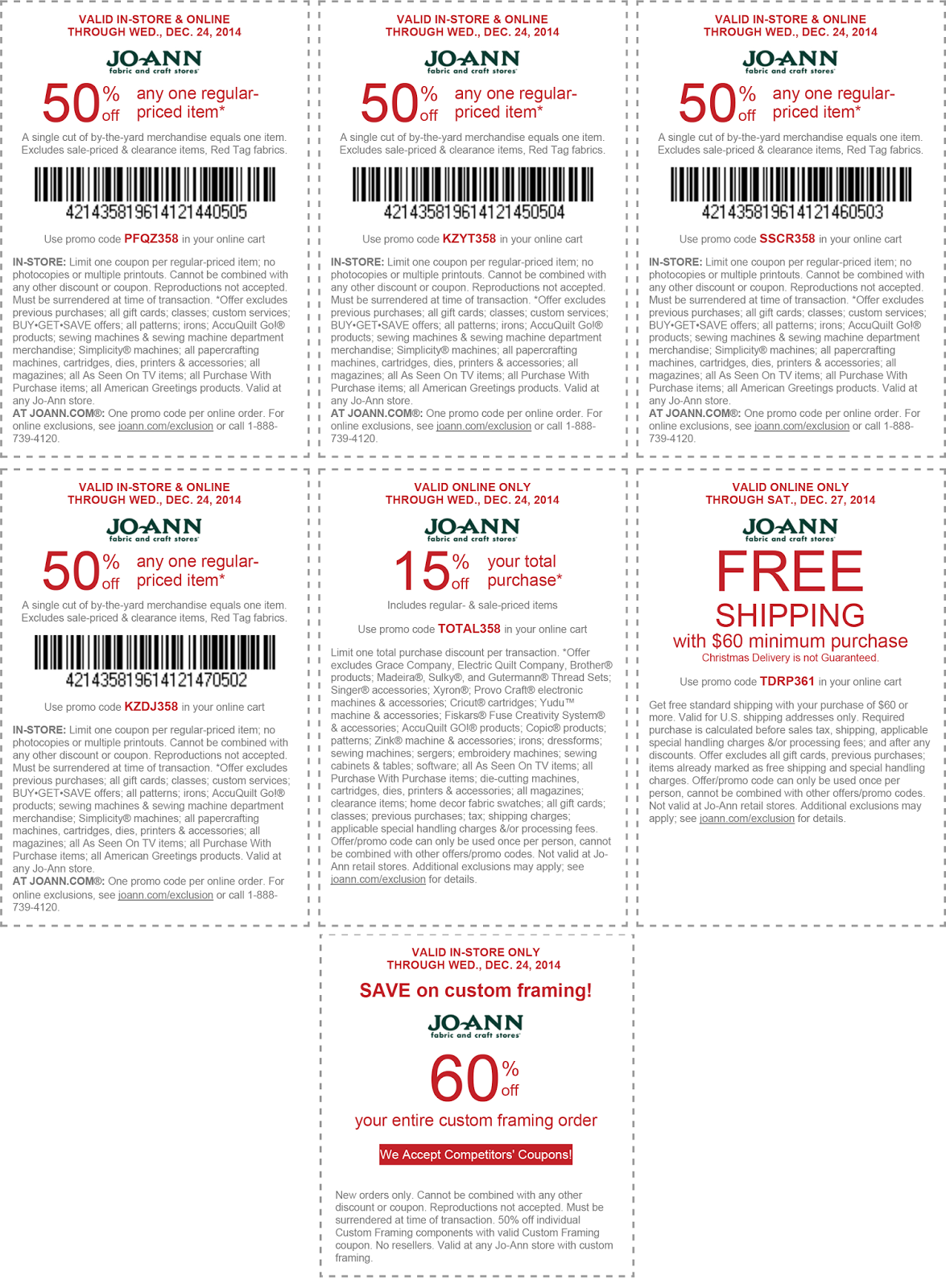 Joann crafts free shipping coupons / 20 percent off coupon bed bath ...