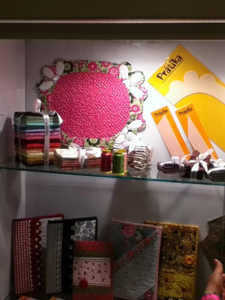Estande da The Happy Quilter Londrina brazil patchwork show balaio de tigre artesanato