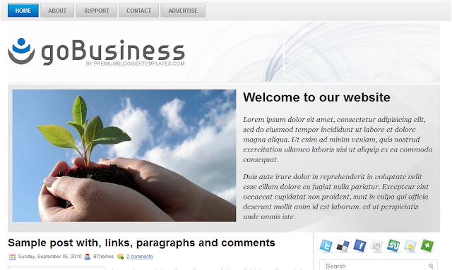 Go Business Theme Blogger Template