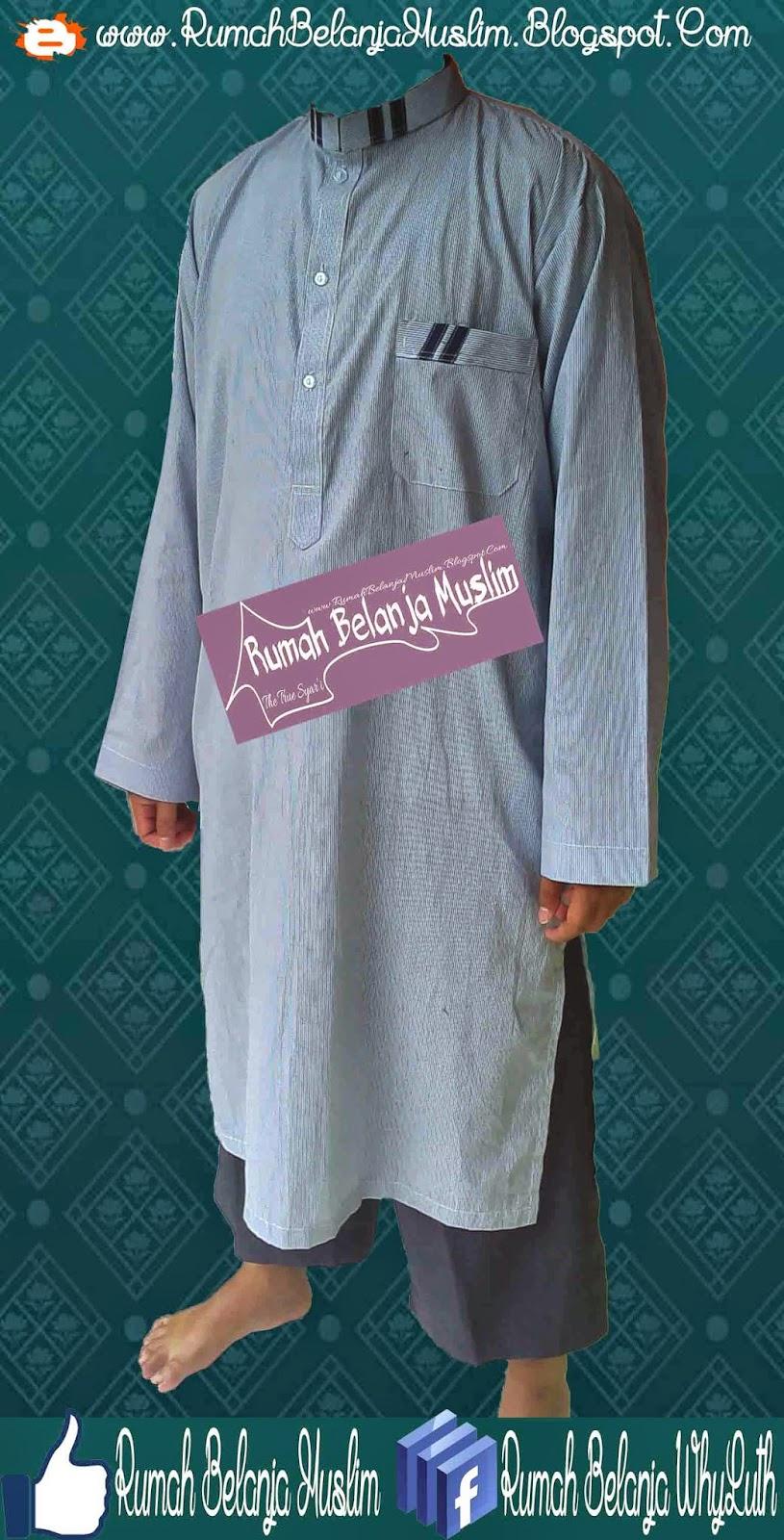 Gamis Pakistan Formal Biru Telur Asin