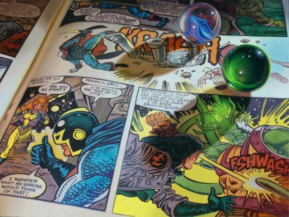 doug bloodworth pintura hiper realista revista quadrinhos super heróis comida bolacha leite café da manhã