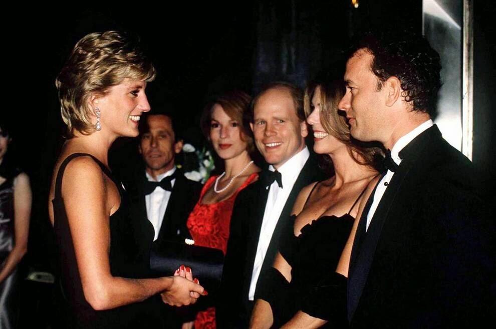 принцесса Диана встретилась с Томом Хэнксом,  премьера фильма «Аполлон-13»