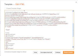 memindahkan CSS ke Blogger
