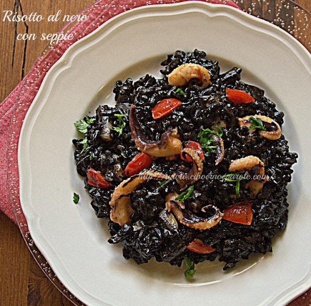 Black risotto -recipe