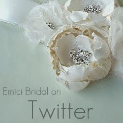 Follow Emici Bridal on Twitter for product info and promotions.