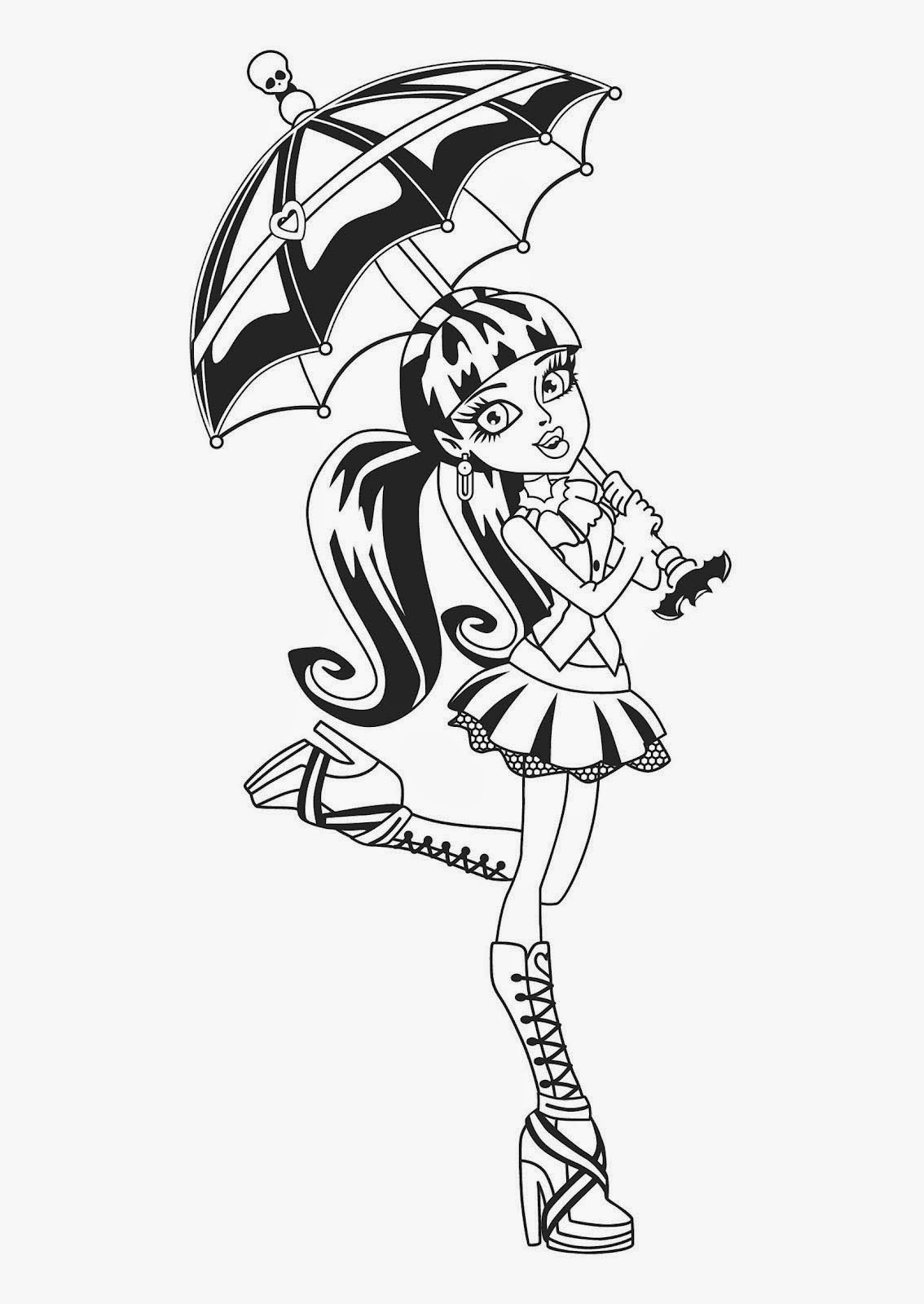 desenhos para colorir monster high on