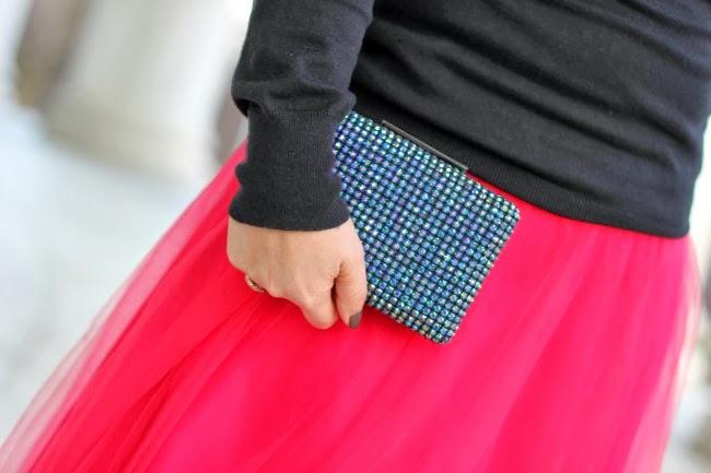 Jeweled clutch from TJ Maxx