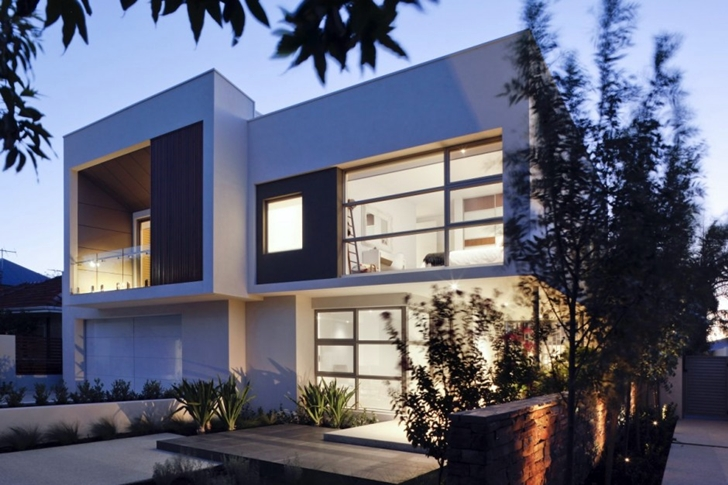 Attractive contemporary style home in perth australia for Home architecture australia