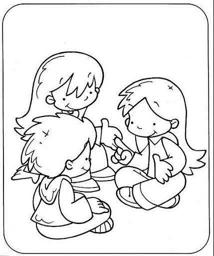 Dibujos para colorear de normas de convivencia escolar - Imagui