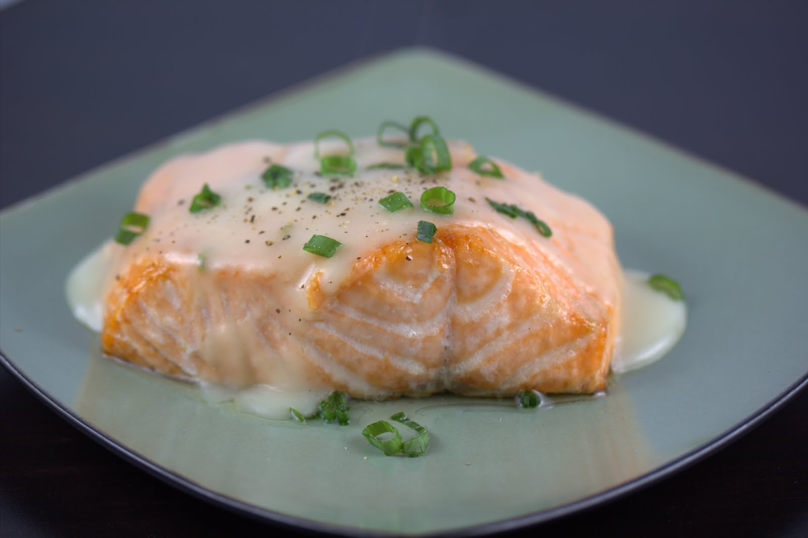 Roasted Salmon with White-Wine Sauce - A Zesty Bite