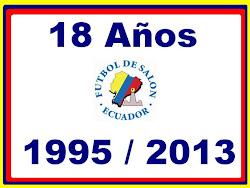 18 AÑOS DE VIDA DEPORTIVA INSTITUCIONAL