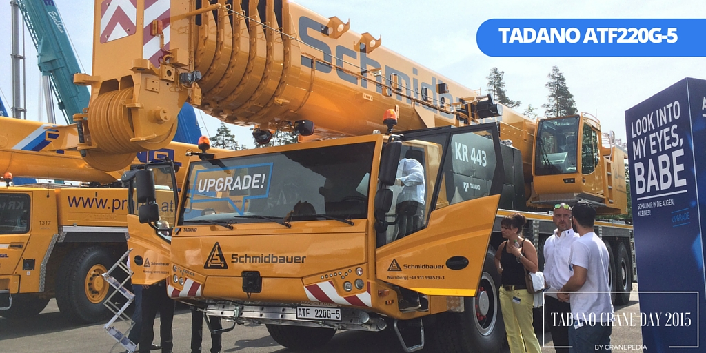 Schmidbauer's ATF220G-5 displayed in Tadano Crane Day 2015