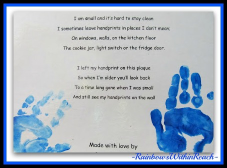 photo of: Handprint Poem suitable for Grandparent's Day