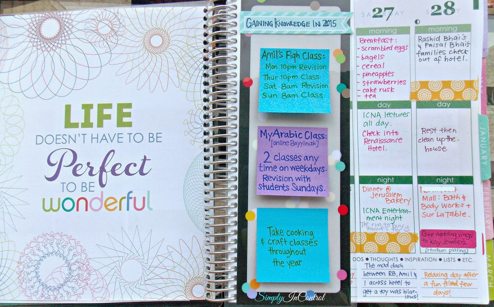 Calendar Planning Quotes : Simply in control honest erin condren planner review and