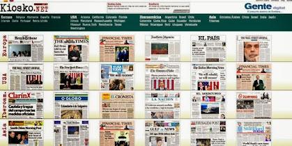 Todos los Periodicos. Europa, Canada, USA, Latinoamérica, Asia-Pacífico, África