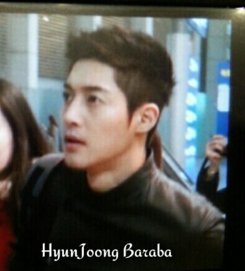 Fanpic Kim Hyun Joong In Incheon Airport Going To Brazil With His New Short Haircut 022213