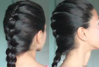 french braid hair style for girls