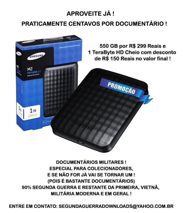 PROMOÇÃO de Documentários Militares por HD Externo ou Interno !